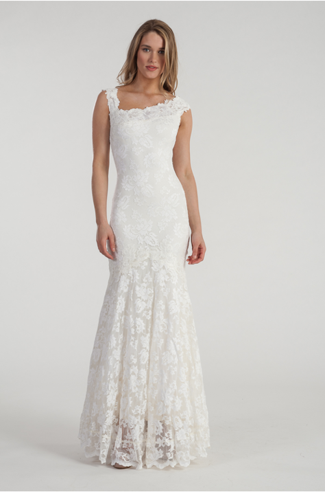 "Mermaid Shape Lace Wedding Gown ""Arielle"""