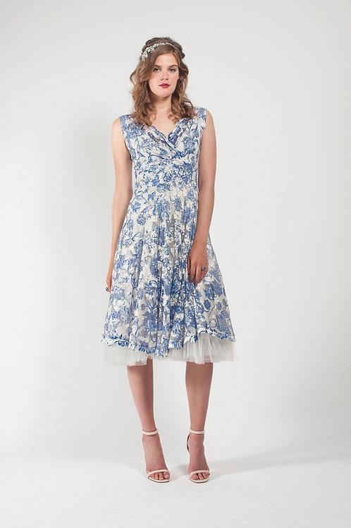 "Midi Lace and Tull Dress ""Tilda"""