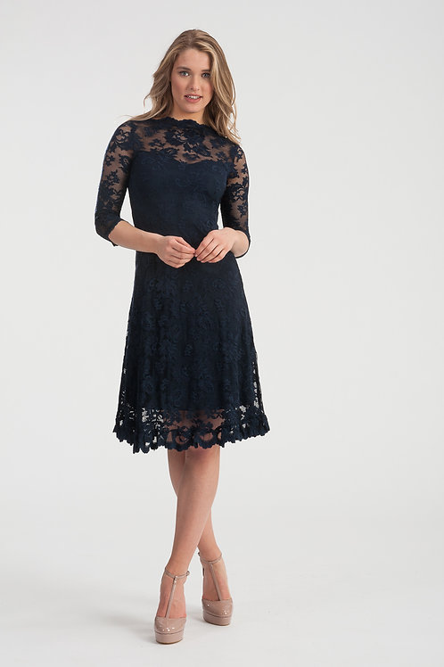 "Night Blue Lace Dress ""Celeste"""