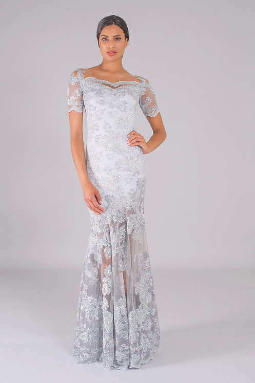 "Jewel Grey Gown 2401 ""Esme"""