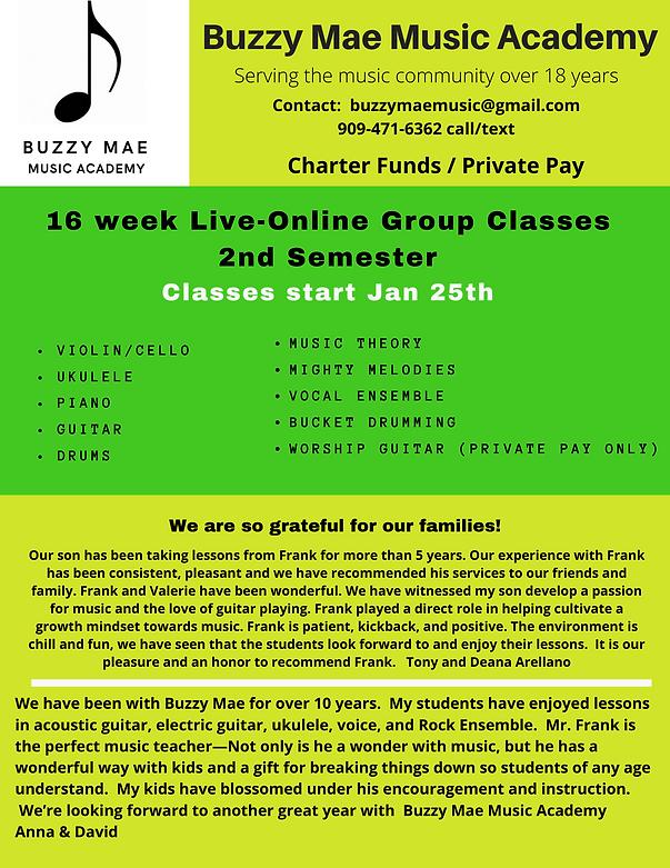 Buzzy Mae 2nd Semester 20201 Group Class