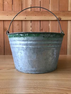 11 vintage galvanized buckets