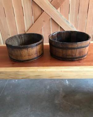 rustic small barrels