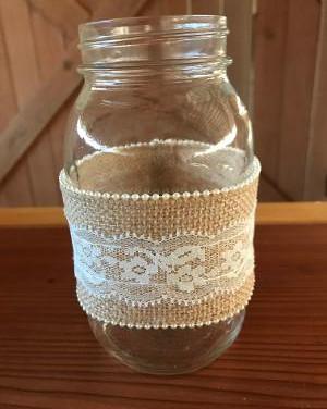 23 burlap mason jars