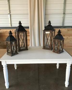 2 Medium and 2 large lanterns