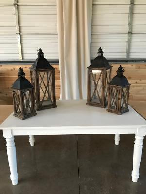 2 Medium and 2 large lanterns