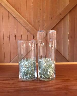 35 Large 33 Medium glass vases