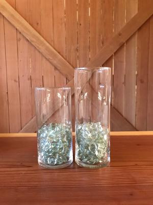 35 Large 33 Medium glass vases