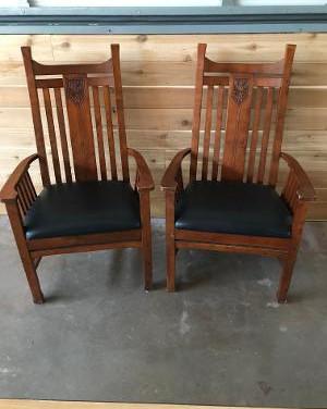 head table dark wood chairs