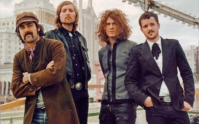 The killers posed in a city