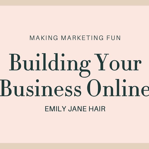 Building Your Business Online Manual