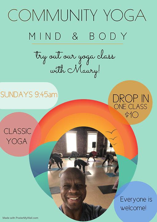 Copy of meditation yoga template flyers