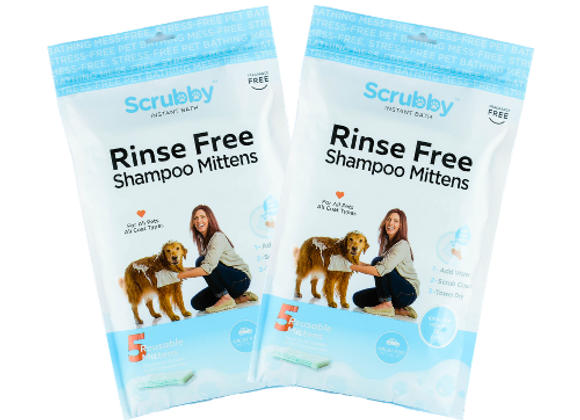2 Pack - 10 Scrubby Instant Bath Mittens