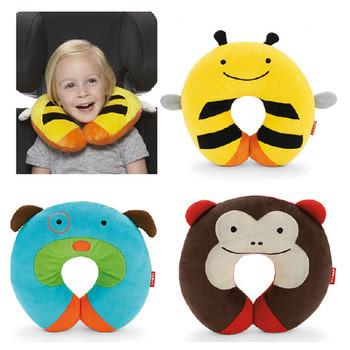 New-Baby-Kid-Children-s-Zoo-Cartoon-Car-Seat-Travel-Neck-Rest-Soft-Plush-Toy-Pil