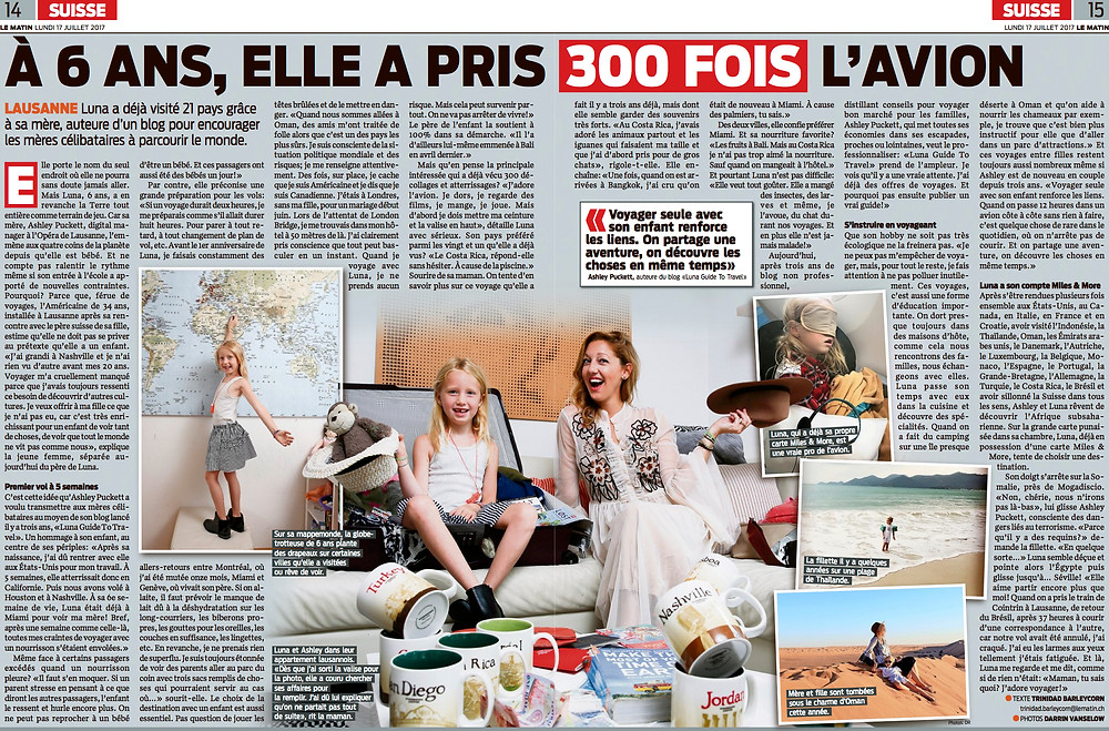 le matin article Luna Guide to Travel
