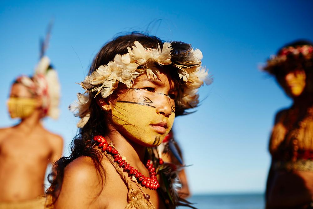 Beautiful native girl in Bahia