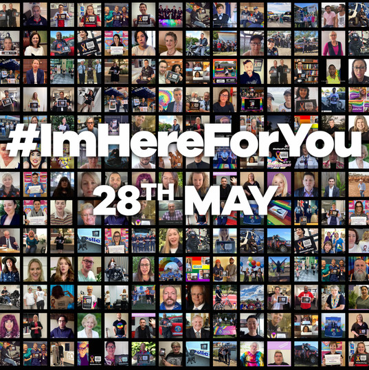Grid of many of the photos submitted on the inaugural LGBTI DV Awareness Day in 2020.