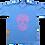Thumbnail: Skull Blue & Pink ATC T, Size S