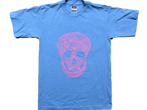 Skull Blue & Pink ATC T, Size S