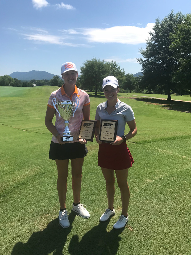 2018 Girls Match Play Finalists - Shelby Liford (left), Kelsey Wylie (right)