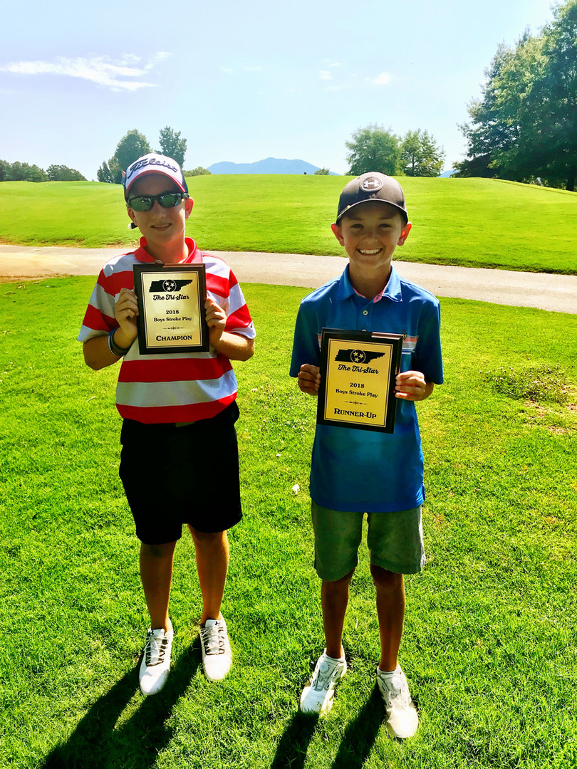 2018 Boys Fun Division Champs - Bryce Harmon (left), Lane Stokes (right)