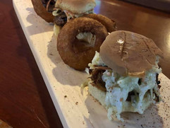 Memphis BBQ Pulled Pork Sliders with Crispy Onions