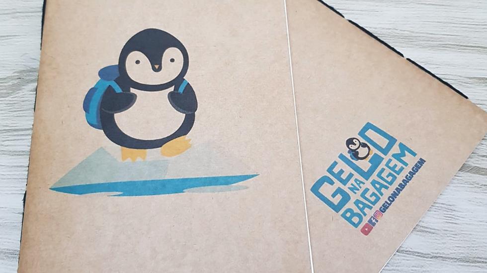 Caderno Kraft Pinguim