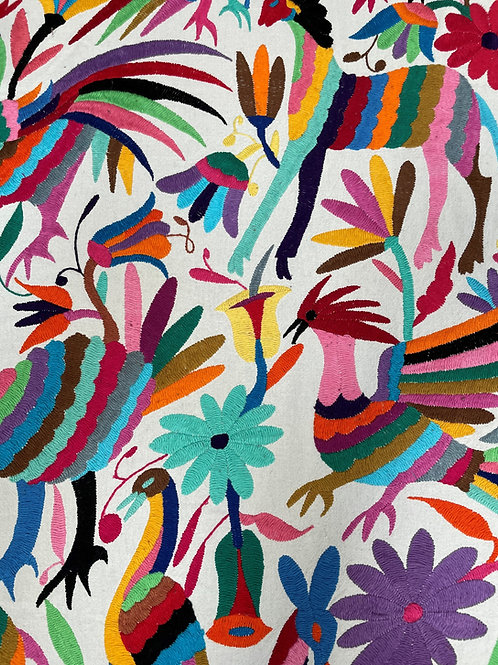 Mexican Otomi Fabric - Multi Color - Round