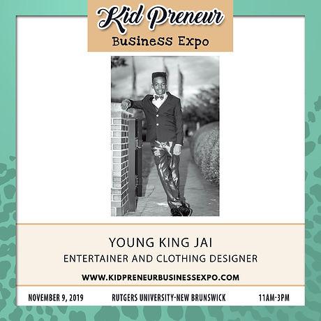 Young King Jai Kidpreneur Business Expo.