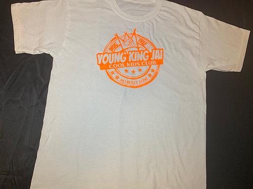 White/Orange Cool Kids Club T-Sirt