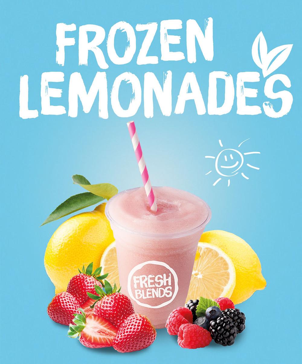 Fresh Blends all-natural frozen Lemonades