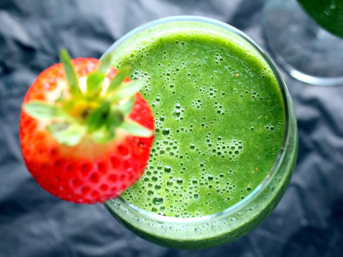 Vegan Detox Green Monster Smoothie