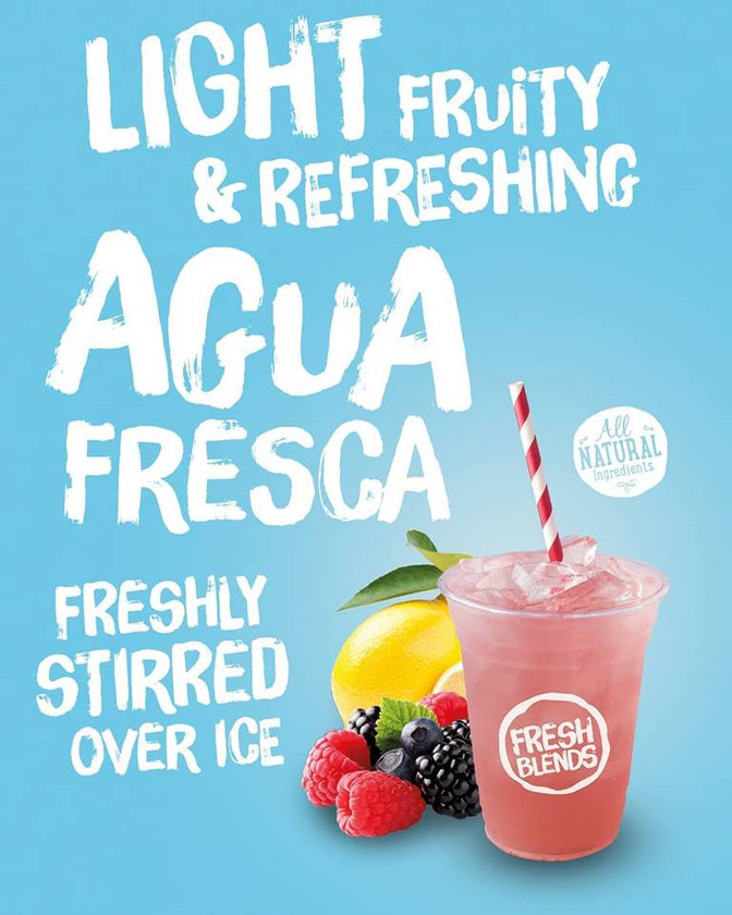 Freshly stirred Agua Frescas
