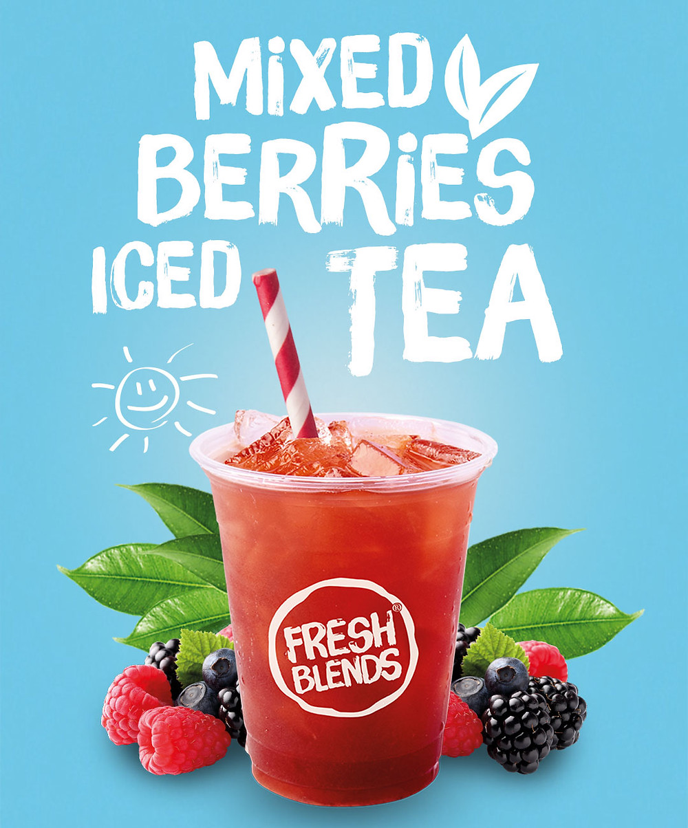 Mixed Berries Iced Tea