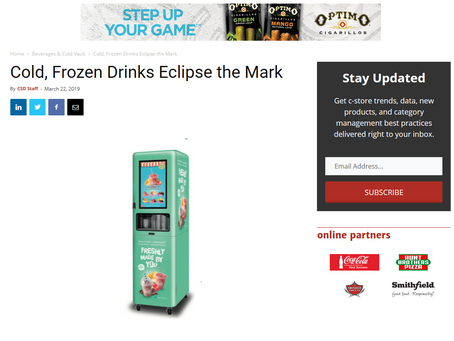 Cold Frozen Drinks eclipse the mark