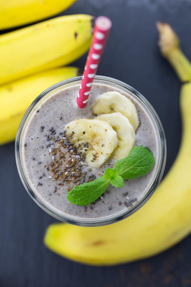 sugar-free banana smoothie without yogurt or milk