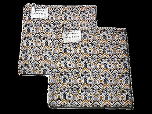 Coupon tissu Omar gris
