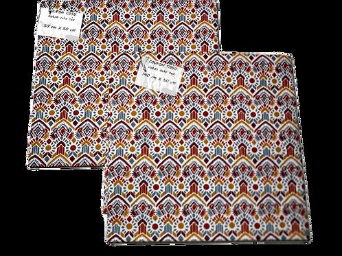 Coupon tissu Omar Terracotta