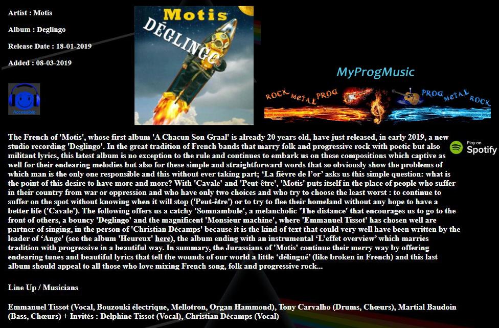 Chronique magazine My Prog Musique