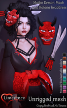 {Limerence}-Maiko-demon-mask&katana-head