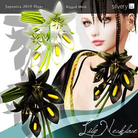 __..Silvery K..__Lily Necklace(Japonica