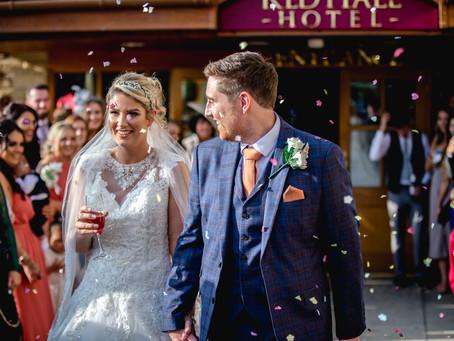 A stunning autumn wedding at Red Hall Hotel Bury.