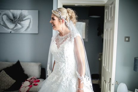 bride first look red hall hotel