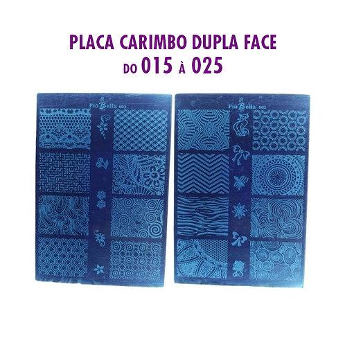 PLACA CARIMBO DUPLA FACE