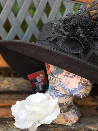 Black Linen with Removable trim
