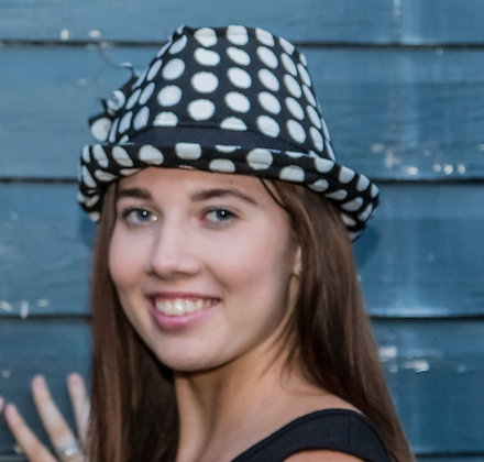 Black and white spot Trilby