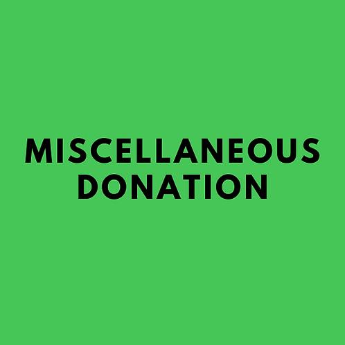 Miscellaneous Donation