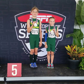 Triathlon 4th and 5th places