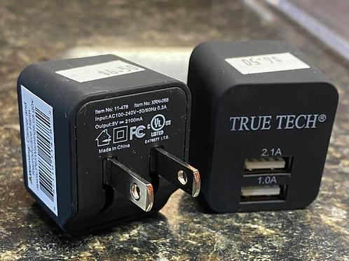 True Tech Dual Port Wall Adapter
