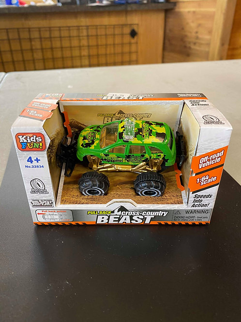 Pull Back Diecast Beast Wheels